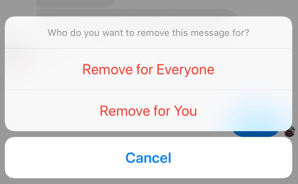 How to remove a message on Facebook Messenger